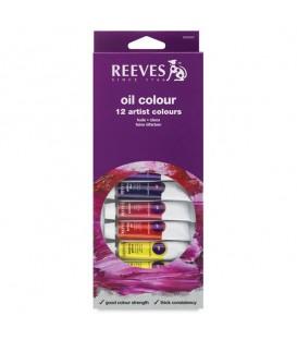 Reeves | Комплект маслени бои 12 цвята (12 ml)