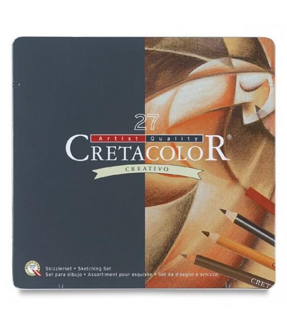Cretacolor   Creativo Комплект графитни моливи и пастели