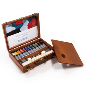 Sennelier Artists' Extra-fine Oil Colour Wooden Box Set of 12 x 40 ml