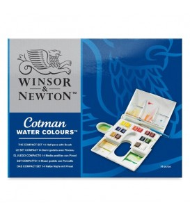 Winsor & Newton Cotman Watercolor Set of 14 half-pans