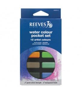 Reeves | Комплект акварелни бои 12 цвята