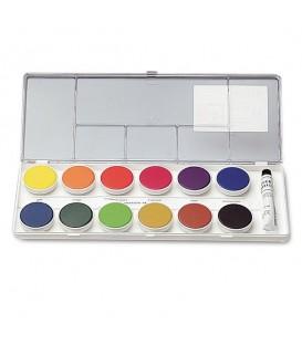 Nerchau | Комплект непрозрачни водни бои 12 цвята