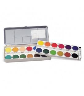 Nerchau | Комплект непрозрачни водни бои 24 цвята