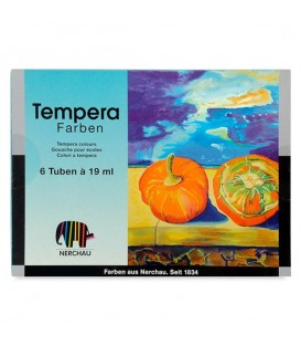 Nerchau | Комплект темперни бои 6 цвята (19 ml)