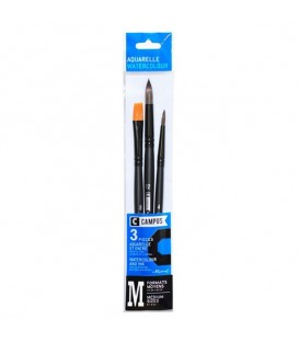 Raphael Campus Watercolor Brush Set M, 3 pc, Medium Sizes
