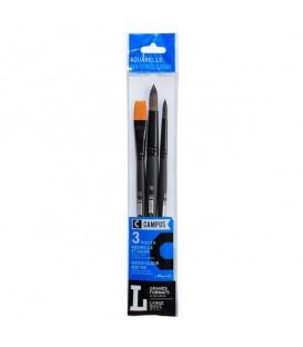 Raphael Campus Watercolor Brush Set L, 3 pc, Large Sizes