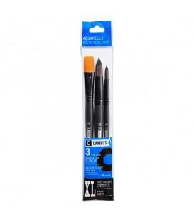Raphael Campus Watercolour Brushes Size XL, Set of 3 pcs