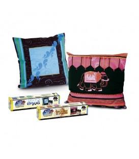 Nerchau | India комплект текстилни бои за тъмни тъкани в топла гама 6 цвята (20 ml)