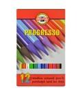 Koh-I-Noor Progresso Woodless Coloured Pencil Set of 12