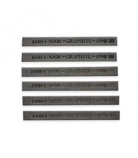 Koh-I-Noor Set Of 6 Graphite Blocks For Artist's Drawing