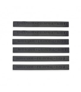 Koh-I-Noor Set Of 6 Charcoal Blocks For Artist's Drawing