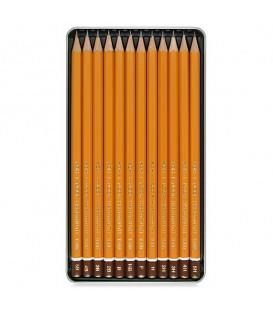 Koh-I-Noor Graphic Set of 12 Graphite Pencils 5B - 5H in Metal Case
