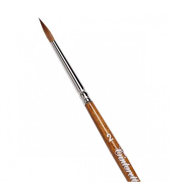 Кръгла четка Tintoretto S400 Колински самур с дълга дръжка
