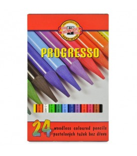 Koh-I-Noor Progresso Woodless Coloured Pencil Set of 24