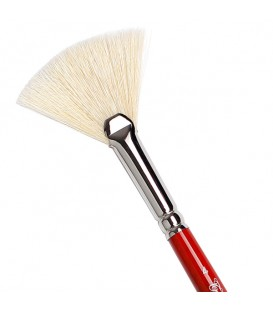Fan Brush Tintoretto S226 White Bristle Long Handle
