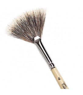 Fan Brush Tintoretto S232 Badger Hair Long Handle