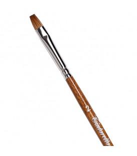 Плоска четка Tintoretto S410 Колински самур с дълга дръжка