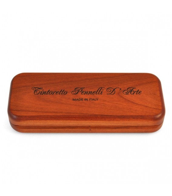 Cherry-wood Pocket Case with 4 Kolinsky Sable Brushes Series 1326 Sizes: 2 - 4 - 6 - 8.