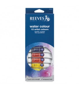 Reeves Watercolour Tube Set of 12 x 10 ml