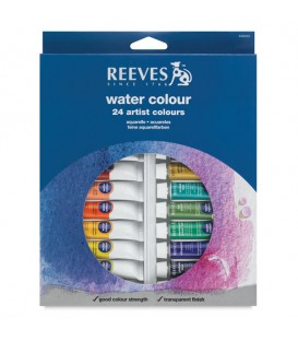 Reeves Watercolour Tube Set of 24 x 10ml
