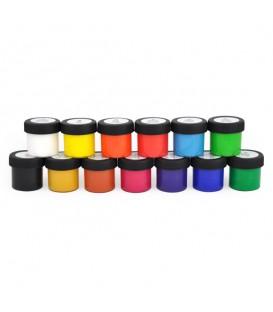 Nerchau | Готов микс плакатни бои 13 цвята (18 ml)
