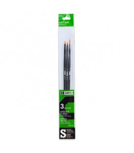 Raphael Campus Acrylic and Oil Brushes Size S, Set of 3 pcs