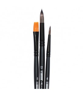 Raphael Campus Watercolour Brushes Size M, Set of 3 pcs