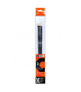 Raphael Campus Oil and Acrylic Brushes Size M, Set of 3 pcs