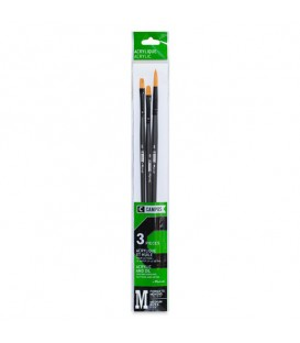 Raphael Campus Acrylic and Oil Brushes Size M, Set of 3 pcs