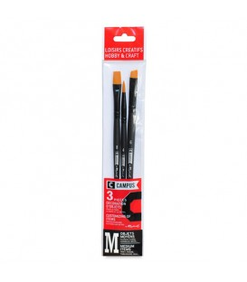 Raphael Campus Hobby and Craft Brushes Size M, Set of 3 pcs