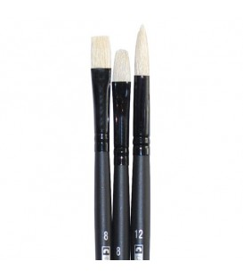 Raphael Campus Oil and Acrylic Brushes Size L, Set of 3 pcs