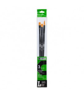 Raphael Campus Acrylic and Oil Brushes Size L, Set of 3 pcs