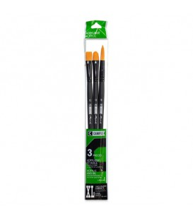 Raphael Campus Acrylic and Oil Brushes Size XL, Set of 3 pcs