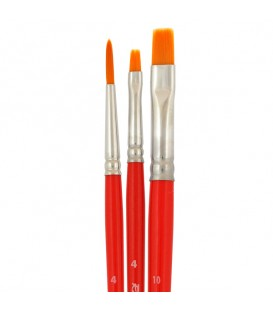 Raphael Iden'ko Set of 3 Brushes for Porcelain Painting
