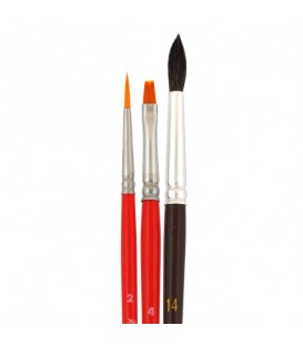 Raphael Iden'ko Set of 3 Brushes for Glass Painting