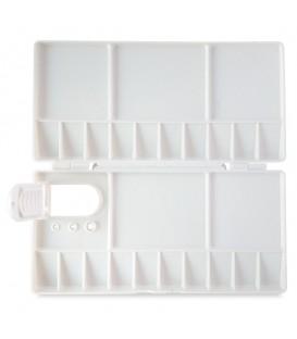 Reeves | Пластмасова правоъгълна палитра с капак 200 x 100 mm