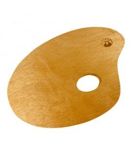 Lukas Wooden Oval Palette 180 x 240 mm
