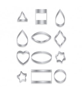 Sculpey Mini Metal Cutters - Geometric Shapes