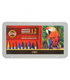 Koh-i-noor Progresso Woodless Aquarelle Pencils Set of 12 Colors