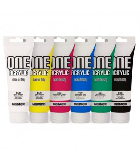 Acrylic Paint Set One Acrylic by Maimeri 6 x 120 ml
