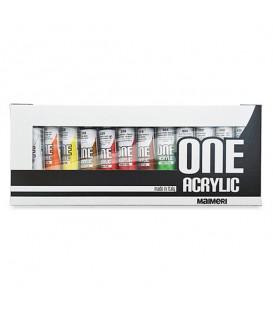 Комплект акрилни бои One Acrylic на Maimeri 12 x 20 ml