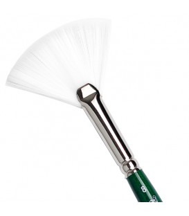 Fan Brush Tintoretto S215 Pearl Synthetic Fiber Short Handle