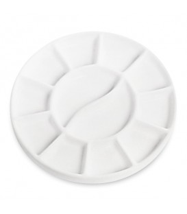 Tintoretto Porcelain Round Palette 180 mm 12 Mixing Wells