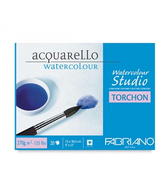 Fabriano Studio Torchon Watecolour Block 20 Sheets 270 g/m²