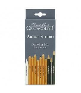 Cretacolor | Artist Studio Drawing 101 Комплект моливи 11 броя