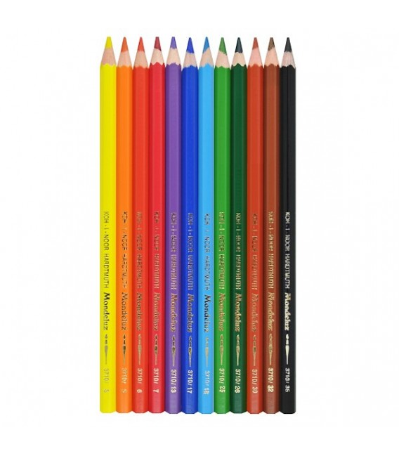 Koh-i-noor   Mondeluz Комплект акварелни моливи в картонена кутия 12 цвята