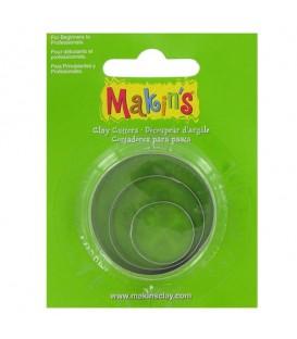 Makin's | Комплект от три форми за изрязване на кръгове