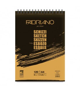 Fabriano Sketch Pad from 60 to 120 sheets of 90 g/m²