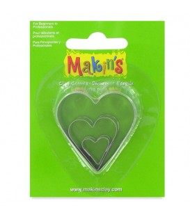 Makin's | Комплект от три форми за изрязване на сърца