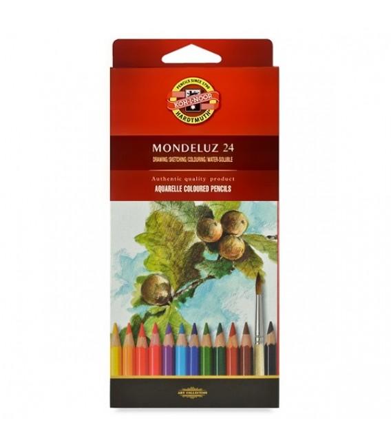 Koh-i-noor | Mondeluz Комплект акварелни моливи в картонена кутия 24 цвята